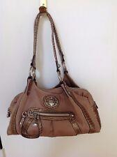 Kathy Van Zeeland Purse Gold Canvas  Satchel Handbag