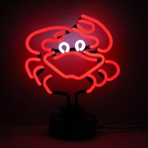 Seafood Neon Sign Restaurant Advertising RED CRAB Light Sculpture Aquarium Lamp