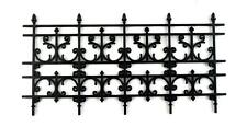 Dolls House Black Victorian Railings Pack of 6 Fence Pieces Miniature Accessory