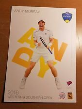 ANDY MURRAY 5X7 2016 WESTERN & SOUTHERN ATP TENNIS TOURNAMENT COLLECTOR CARD