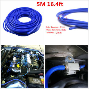 3mm Car Air Water Coolant Oil Turbo Silicone Vacuum Tube Hose Silicon Tubing 5M
