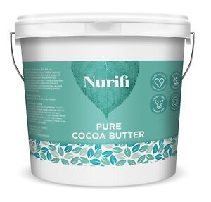 1KG UNREFINED COCOA BUTTER - 100% Food Grade, Pure & Natural - INTRODUCTORY SALE