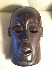 Superb Very Large Antique Wood Carved Kwese Zaire Drc Mask