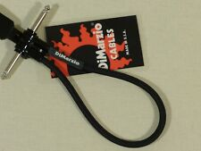 Dimarzio BLACK 12 inch Guitar Bass Quality 'Jumper' Cable Lead USA Made