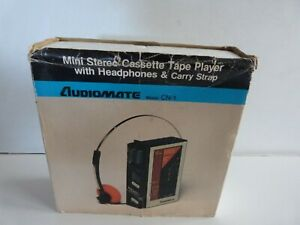 Audiomate CN-1 Walkman Mini Stereo Tape Player with Headphones.