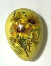 Vintage Ceramic Easter Egg ~ Black Eyed Susan Sun Flower Yellow Daisy