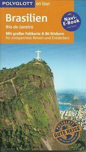 Reiseführer Brasilien + große Faltkarte Ungelesen wie neu Polyglott 2018/19