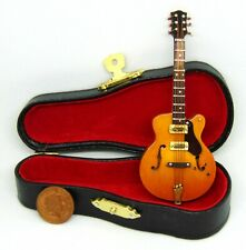 1:12 Scale Brown Gibson Guitar In A Case Tumdee Dolls House Music Instrument 572