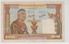 Mazuma *F276 Laos 1957 100 Kip Y1 26978 F Only