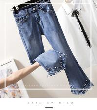 Women's fashion denim nine points jeans KREDM3005#