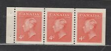 1951 #306a 4¢  KING GEORGE VI  NEW COLOUR ISSUE BOOKLET PANES F-VFNH