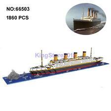 YZ Movie Titanic Ship Boat Iceverg Mini Diamond Building Nano Block Toy 1860pcs