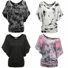 Rayon Batwing, Dolman Sleeve Floral Regular Tops & Blouses for Women