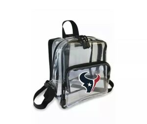 "Football Houston Texans Mini Clear Stadium Backpack 10"" x 3"" x 8"" Licensed"