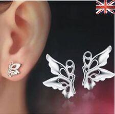 Women 925 Sterling Silver Stud Earrings Butterfly Studs Earring Ear Gift Fashion