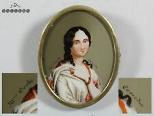 Portrait Brooch circa 1840 Eugenie Doche 1821-1900 French Actress