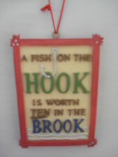 Fishing Ornament A Fish On The Hook 53406 43