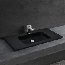 [neu.haus] Waschbecken schwarz 90x46cm Einbauwaschbecken Einsatz Handwaschbecken