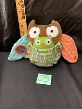 """Pottery Barn Skip * Hop OWL Plush 7"""" Chime J5"""
