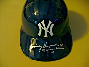 New York Yankees Autographed Helmet - (Randy Gumpert #18) - 1947 WSC - Very Nice