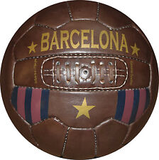 BARCELONA - Vintage Leather Soccer Ball 1966 -- 100% leather