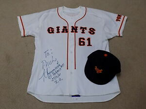 Hector Almonte Game Worn Signed Jersey 2001 Yomiuri Giants Hat Cap