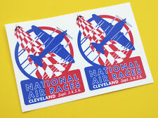 NATIONAL AIR RACES Cleveland Retro Vintage style stickers decals 1 pair