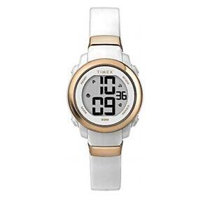 Timex TW5M29400, Women's Digital White Resin Watch, Indiglo, Chronograph, Alarm