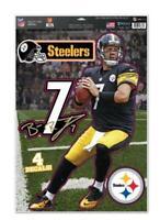 Ben Roethlisberger Pittsburgh Steelers 4 Aufkleber Decal Badges Set NFL Football