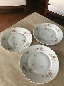 Theodore Haviland, Limoges France, Schlepper#150, 3 Dinner Plates 10 inch