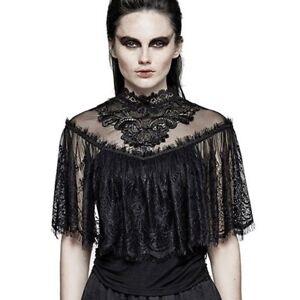 Punk Rave Victorian Vintage Goth Gothic Top Oberteil Bluse - Nemesis Spitze