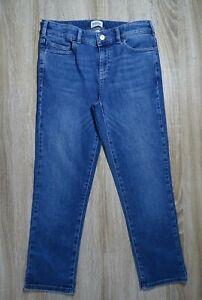 WHITE STUFF blue straight leg crop mid denim blue jeans size 8
