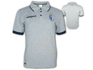 Uhlsport 1.FC Magdeburg Poloshirt grau FCM Polo Shirt Fan Jersey Gr. S - 3XL