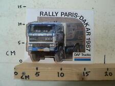 STICKER,DECAL DAF TRUCKS RALLY PARIS-DAKAR 1987 3600 A