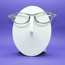 Wicked Pointed Rhinestone Smoky Gray Cat Eye Reading Glasses +2.75