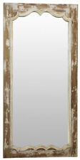 OLD WORLD FRENCH STYLE ANTIQUE WHITE FINISH  PINE WOOD WALL MIRROR