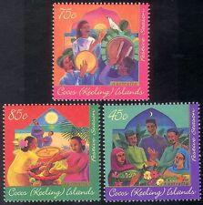 Cocos (Keeling) Is 1996 Hari Raya Festival/Drums/Family/Cooking 3v set (n18162)