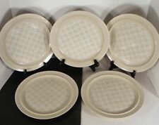 Anchor Hocking Stoneware CHECKMATE Dinner Plate (s) LOT OF 5