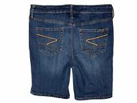 Womens Seven7 Blue Denim Bermuda Shorts Stretch Size 12