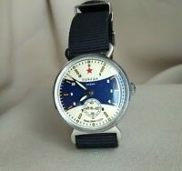 Wrist Watch Pobeda USSR + New Nato Strap / Serviced