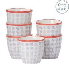 Flower Plant Pot Ceramic Porcelain Indoor Outdoor Garden - Purple / Red Swirl x6