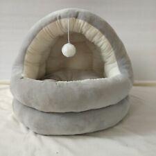 Pet Cat Dog Nest Bed Semi-Closed Cat Room Sleeping Mat Puppy Soft Warm Cave Pads