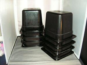 ( 8 ) LOT ~ Cambro - 66CW110 - 1/6 Size 6 in Deep Black Camwear® Food Pan