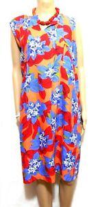 W. Lane floral linen dress with pockets, sz. 16, showy, NWOT