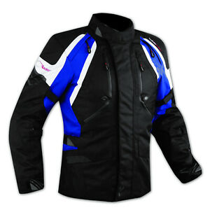 Jacket CE Armored Quality Waterproof Motorbike Motorcycle Thermal  Blue XL
