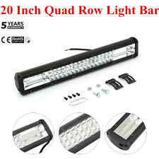 20'' Inch 1200W Quad-row LED Work Light Bar Combo Offroad Driving Lamp Car Truck