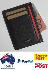 Men's Leather Wallet opal Card Holder , 6 Card Slots Slim Wallet