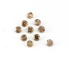 0.30 CT Natural Loose Diamond 2MM ROUND 10 PCS LOT Fancy Brown