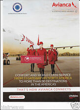 AVIANCA COLUMBIA 2015 AIRBUS A330 RED RUANA FLIGHT ATTENDANTS AD