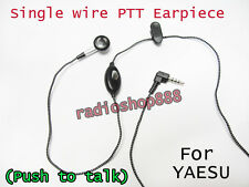 Single PTT Earpiece for  Yaesu VX-2R VX-3R VX160 VX-168 VX-210 VX-427 FT-60R